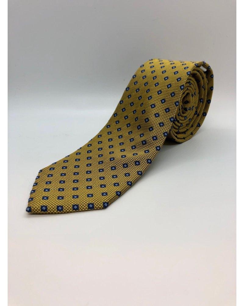 Blue Diamond Tie Yellow
