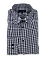 Blu by Polifroni Black Check Dress Shirt