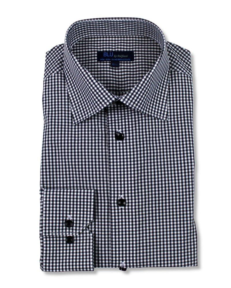 Blu by Polifroni Blu Black Check Dress Shirt