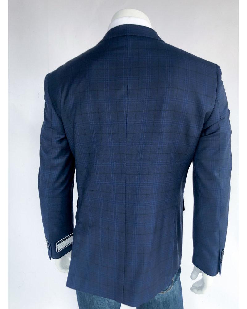 Halberstadt's Platinum  Navy Plaid Sport Coat