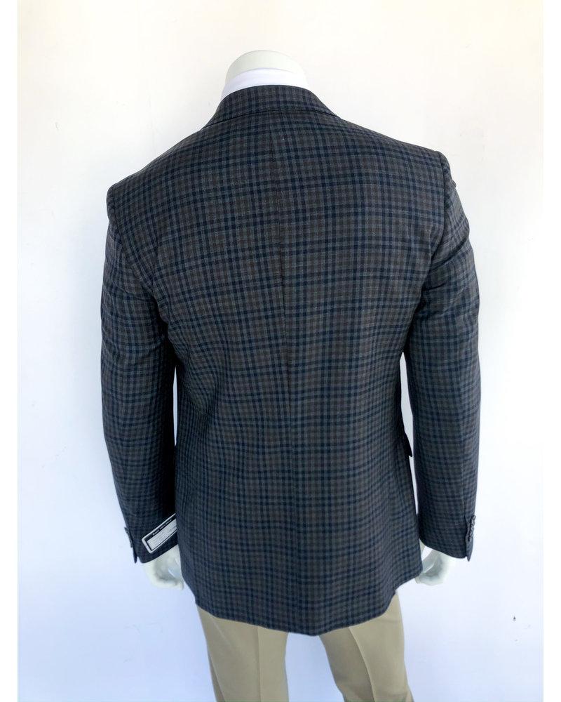 Halberstadt's Platinum Grey/Brown Check Sport Coat