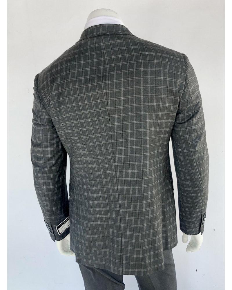 Halberstadt's Platinum Grey Plaid Sport Coat