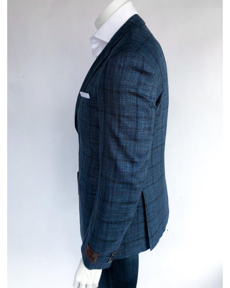 Byron Byron Teal Windowpane Sport Coat