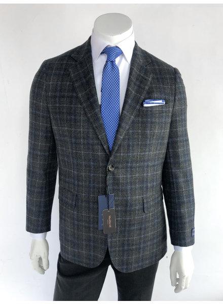 Max Davoli Grey/Blue Plaid Sport Coat
