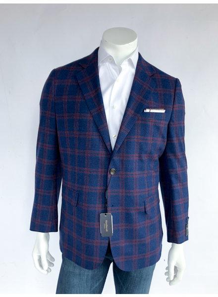 Max Davoli Blue/Red Plaid Sport Coat