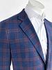 Max Davoli Max Davoli Blue Red Plaid Sport Coat