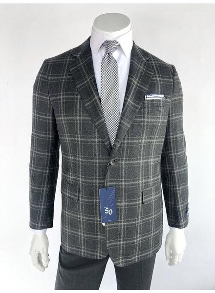 Max Davoli Grey Plaid Sport Coat