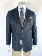 Max Davoli Black/Brown Check Sport Coat