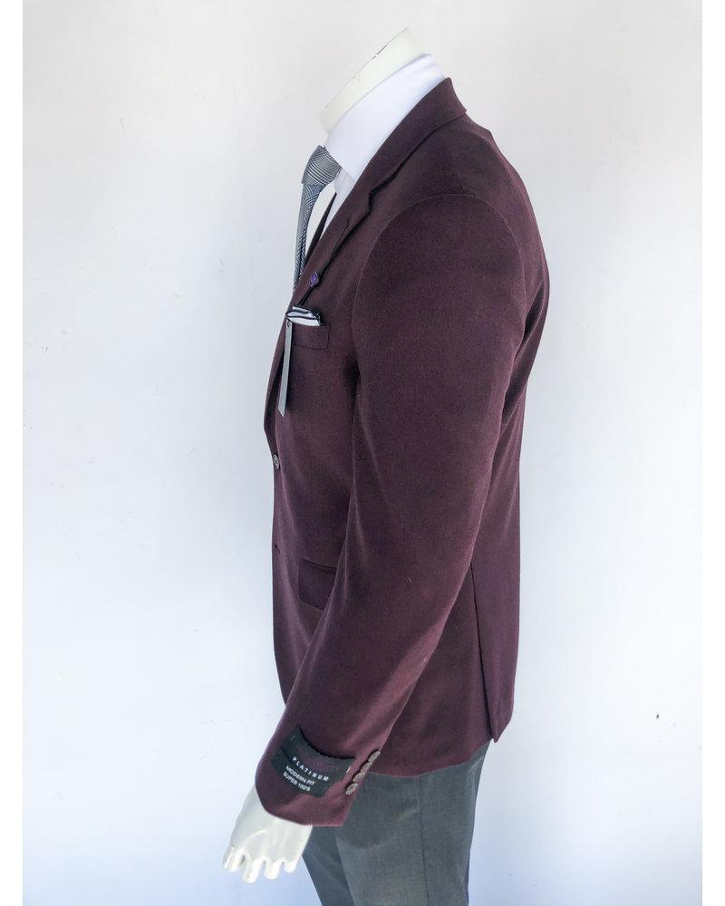 Halberstadt's Platinum Burgundy Melange Sport Coat
