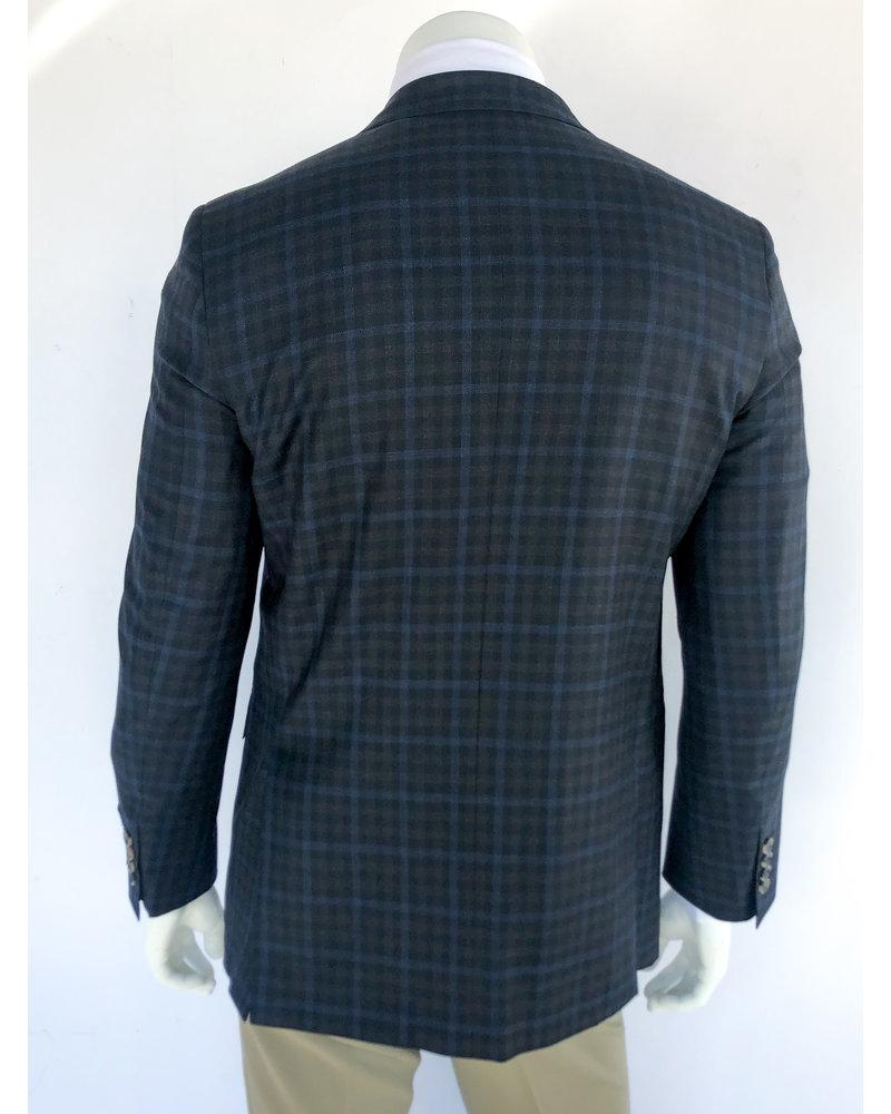 Max Davoli Max Davoli Black/Brown Check Sport Coat