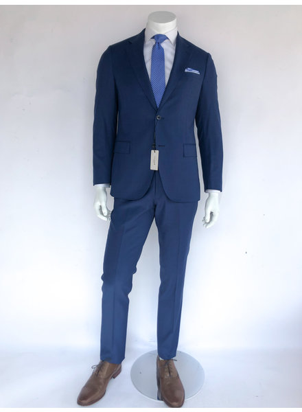 Trend French Blue Sharkskin Suit