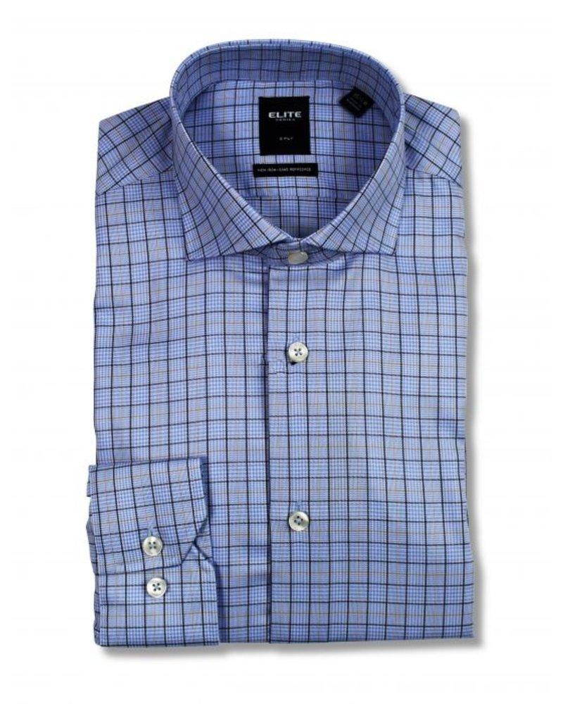 Serica Serica Elite Blue Plaid Dress Shirt