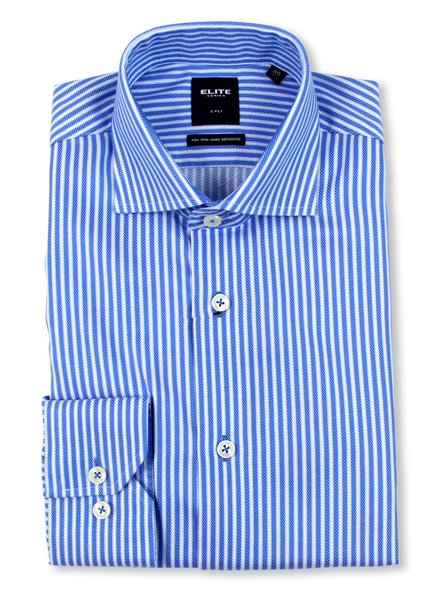 Serica Elite Lt. Blue Stripe Dress Shirt