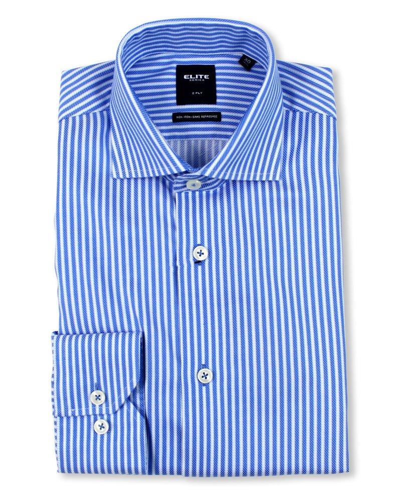 Serica Serica Elite Lt. Blue Stripe Dress Shirt