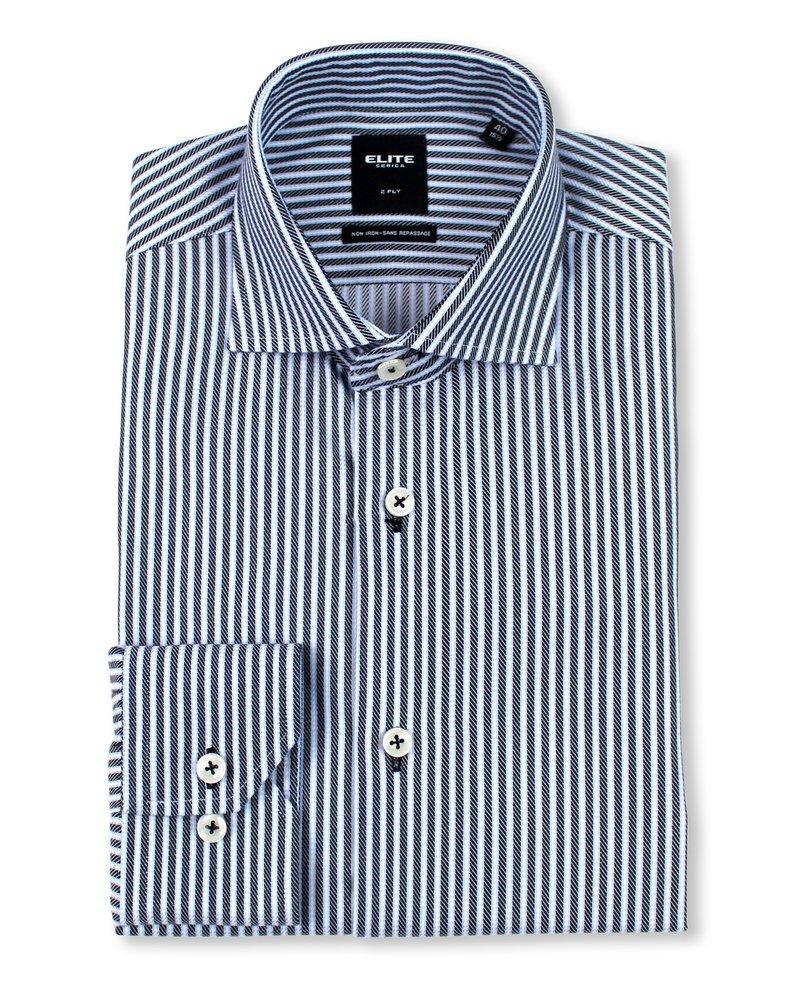 Serica Serica Elite Black Stripe Dress Shirt