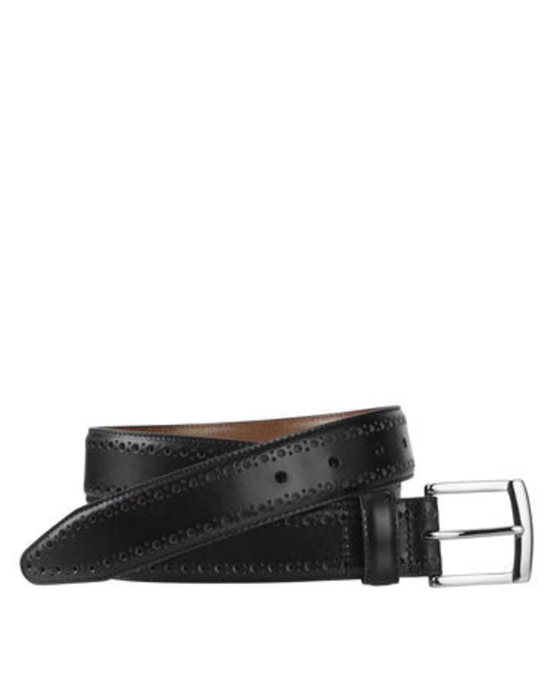 Johnston & Murphy Johnston & Murphy Black Perfed-Edge Belt