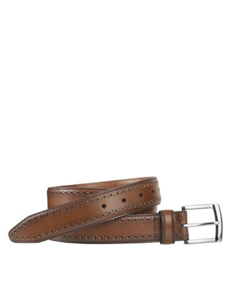 Johnston & Murphy Johnston & Murphy Tan Perfed-Edge Belt