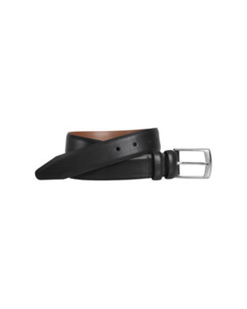 Johnston & Murphy Johnston & Murphy Black Feather-Edge  Belt