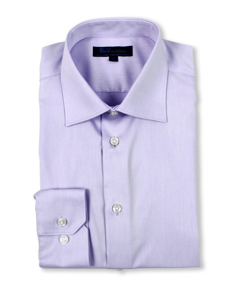 Blu by Polifroni Blu Solid Lavender Dress Shirt