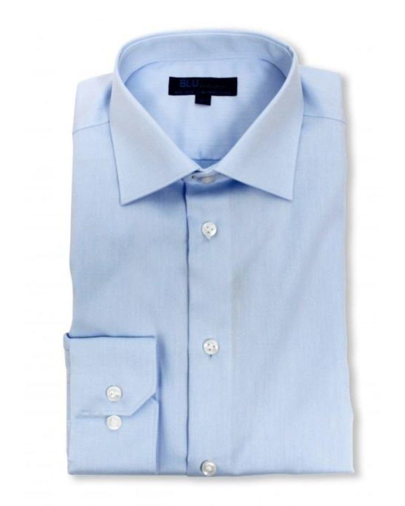 Blu by Polifroni Blu  Lt. Blue Solid Dress Shirt