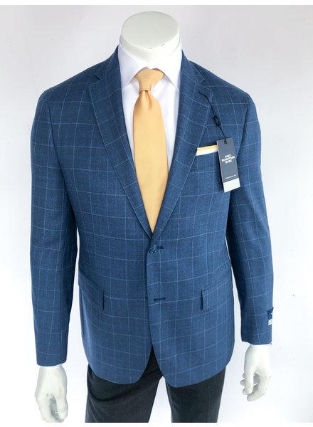 Hart Schaffner Marx New York Fit Blue Windowpane Sport Coat