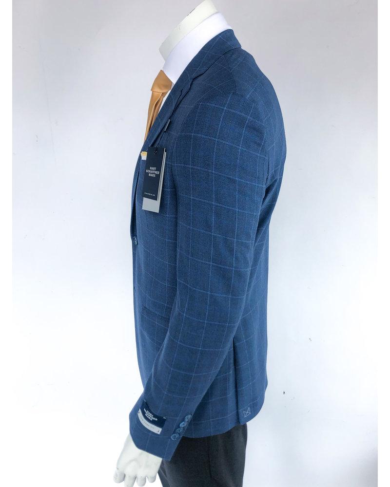 Hart Schaffner Marx Hart Schaffner Marx Blue Windowpane Sport Coat