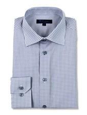 Blu by Polifroni Grey Check Dress Shirt