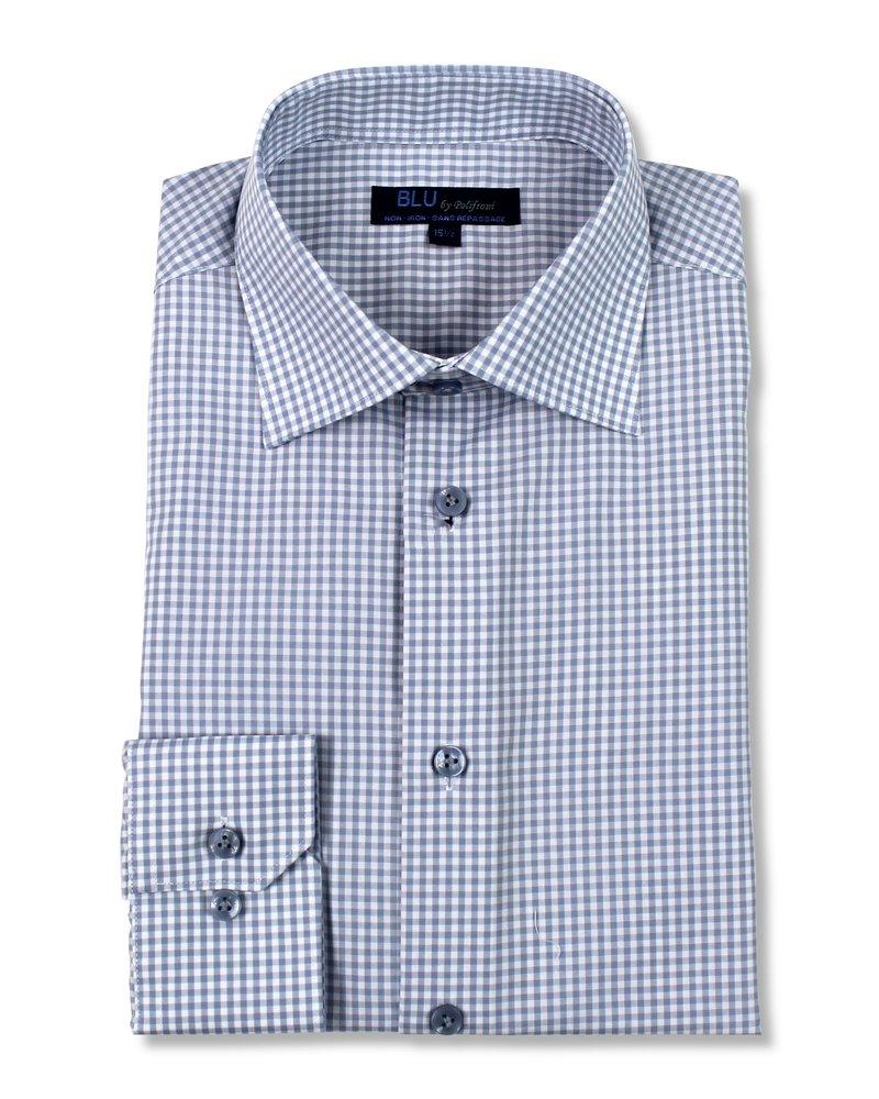 Blu by Polifroni Blu Grey Check Dress Shirt