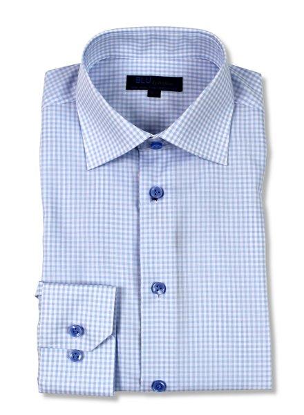 Blu by Polifroni Lt. Blue Check Dress Shirt