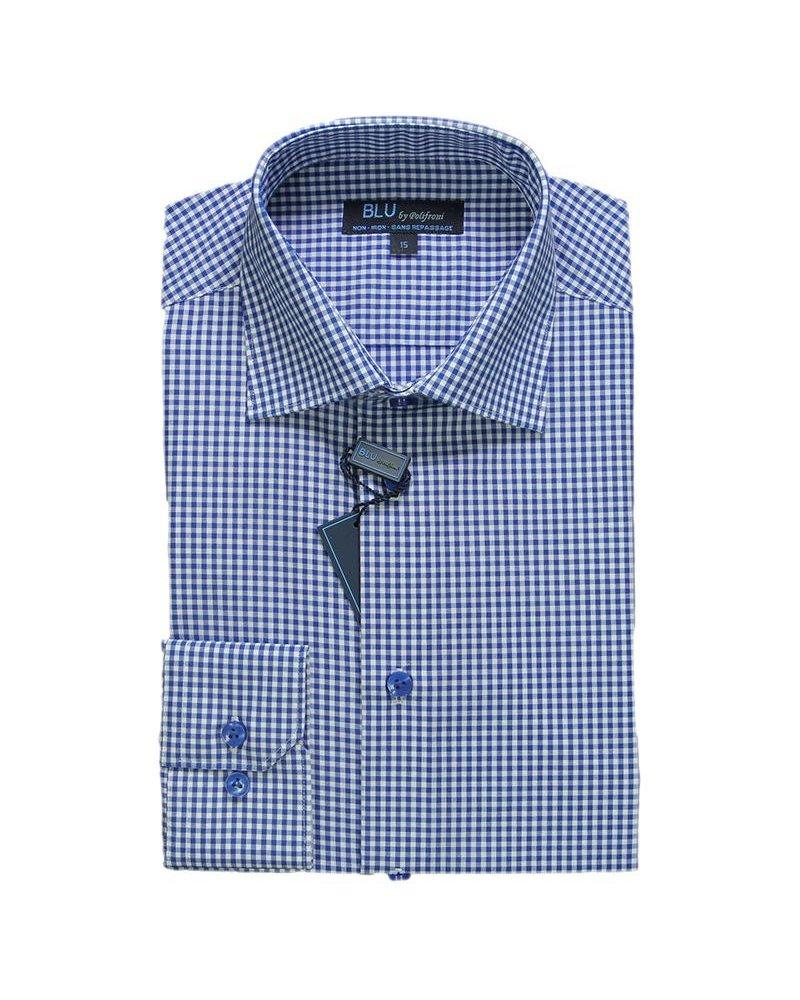 Blu by Polifroni Blu Blue Check Dress Shirt