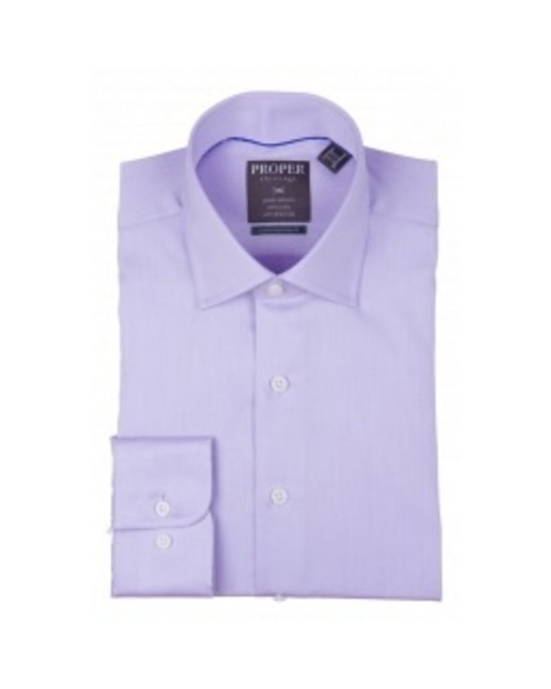 Proper Wrinkle-Free Purple Dress Shirt