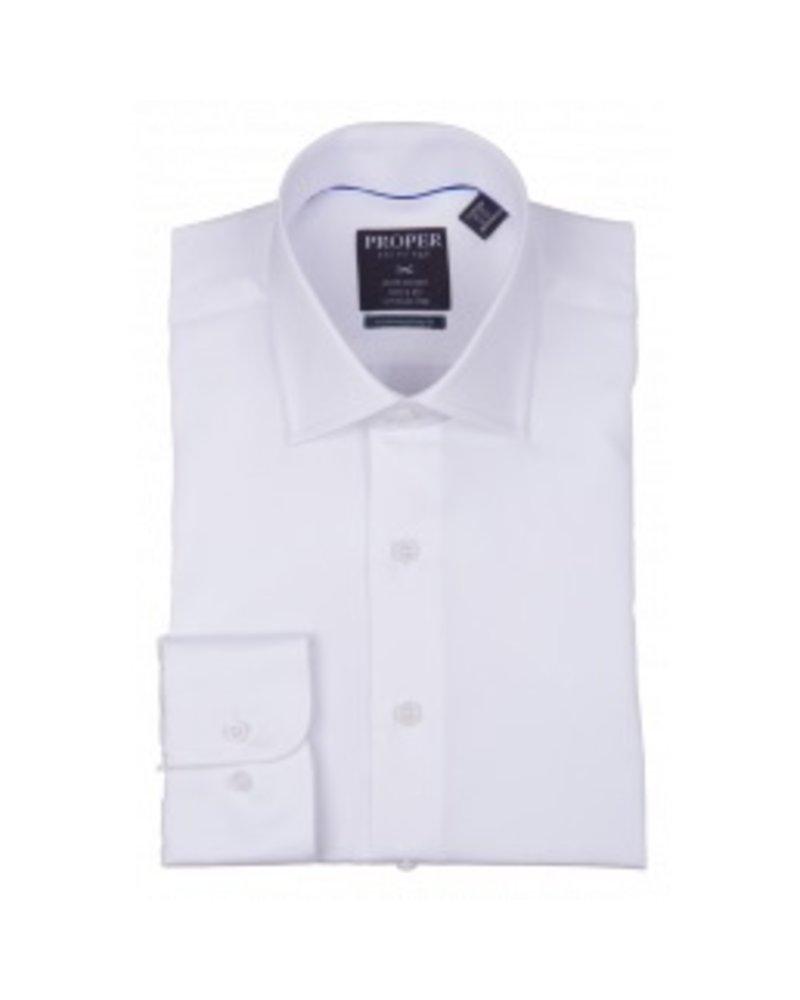 Proper Wrinkle-Free White Dress Shirt