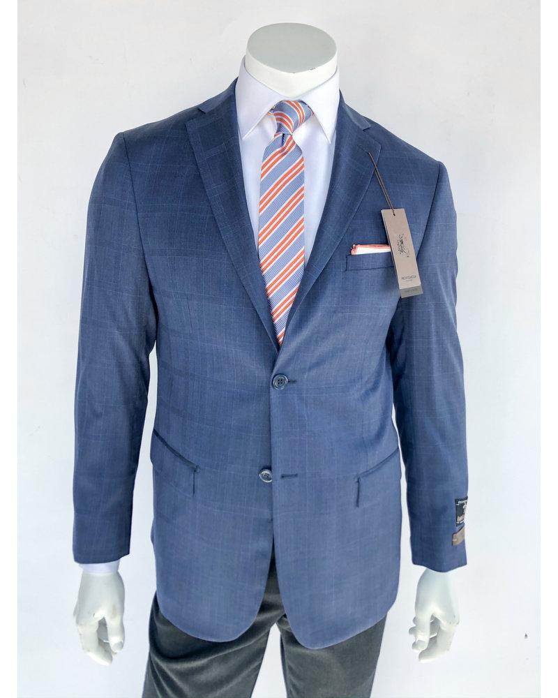Pronto Moda Blue Windowpane Sport Coat