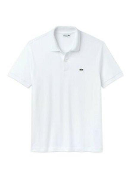Lacoste White Cotton Polo