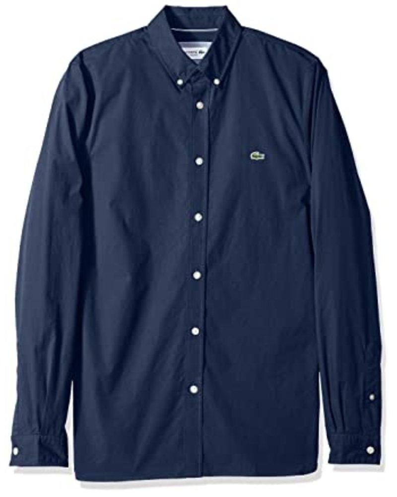 Lacoste Lacoste Stretch Navy Cotton Poplin Shirt