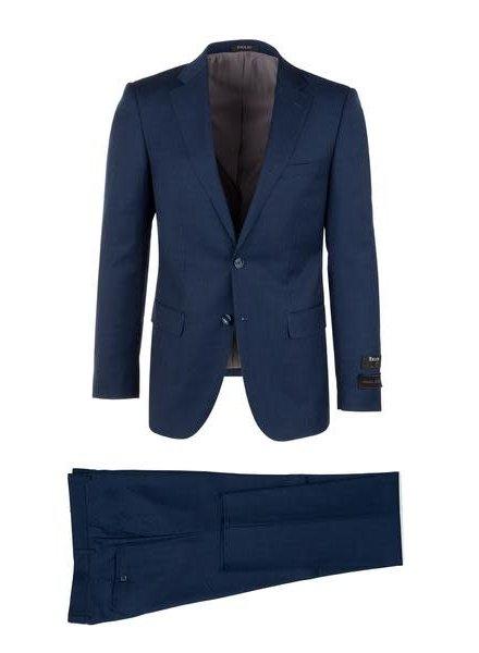 Tiglio Porto Blue Sharkskin Suit