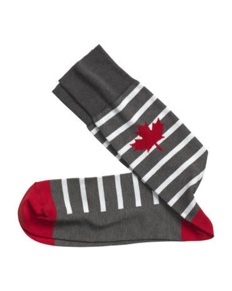 Johnston & Murphy J&M Gray Maple Leaf Socks