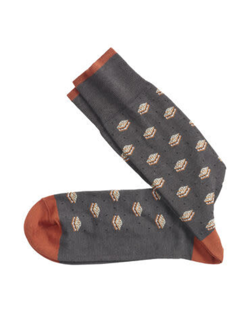 Johnston & Murphy J&M Charcoal S'mores Socks