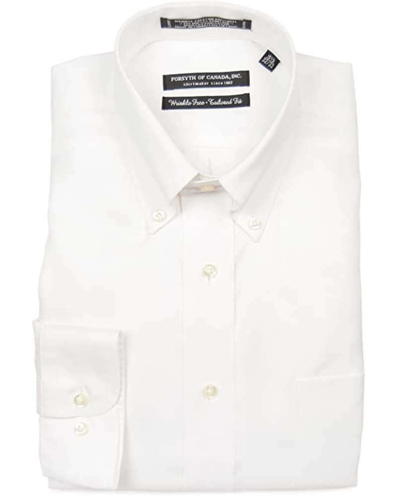 Forsyth Forsyth of Canada White Button-Down Collar Dress Shirt