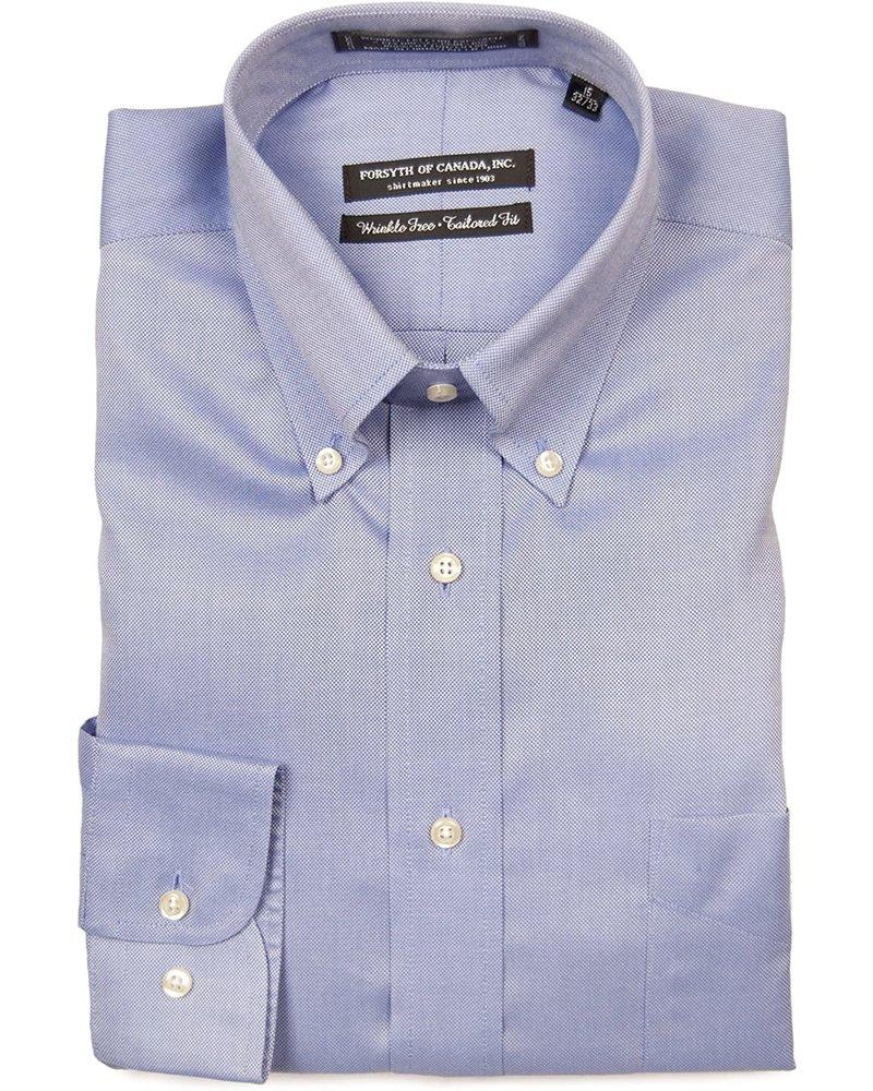 Forsyth Forsyth of Canada Blue Button-Down Collar Dress Shirt