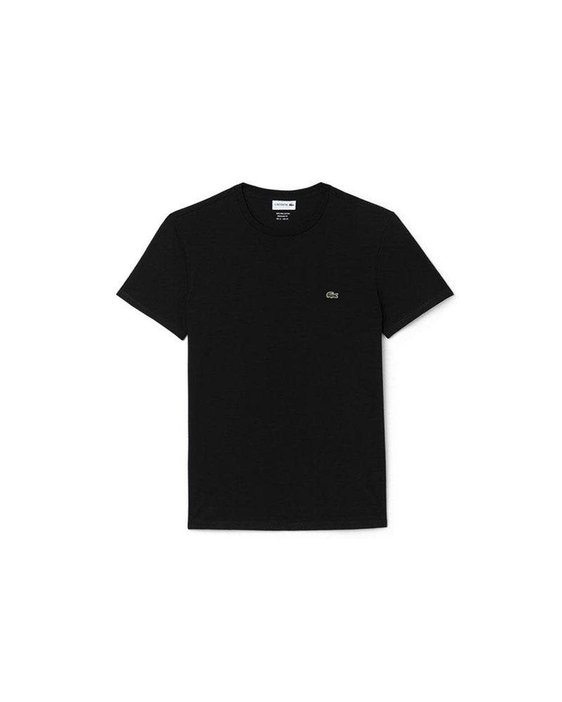 Lacoste Lacoste Crew Neck Pima Cotton T-Shirt-Black