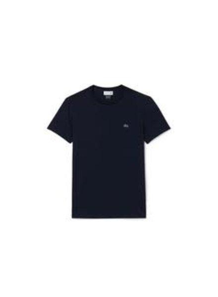 Lacoste Crew Neck Pima Cotton T-Shirt -Navy