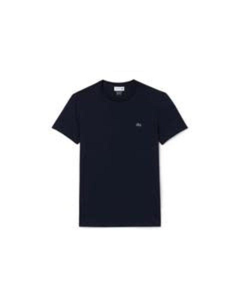Lacoste Lacoste Crew Neck Pima Cotton T-Shirt-Navy