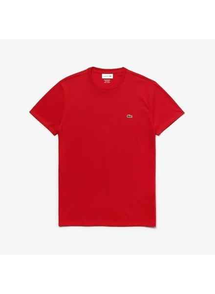 Lacoste Crew Neck Pima Cotton T-Shirt -Red