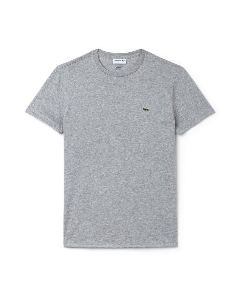 Lacoste Lacoste Crew Neck Pima Cotton T-Shirt-Grey