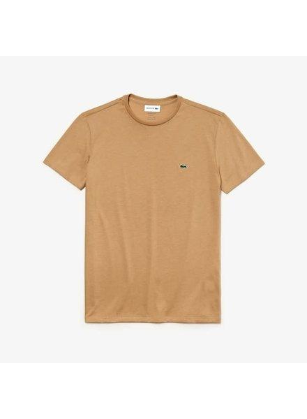 Lacoste Crew Neck Pima Cotton T-Shirt -Beige