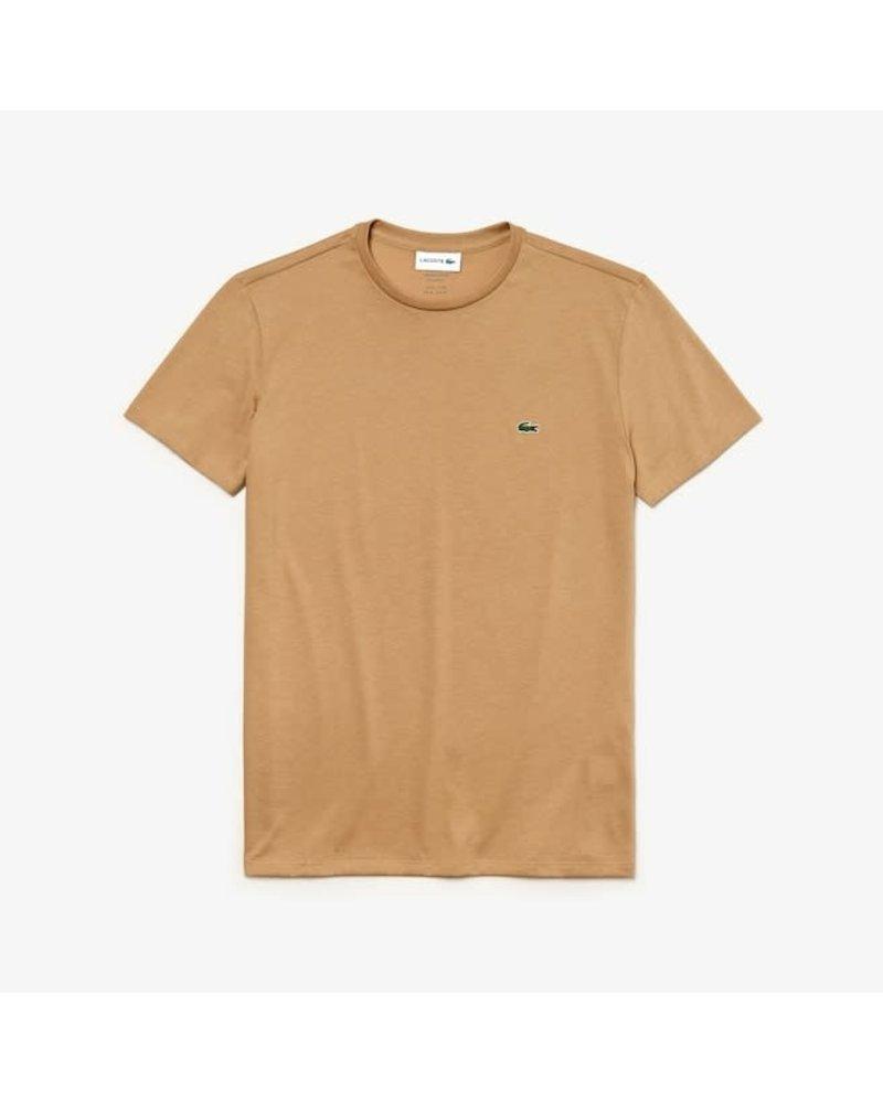 Lacoste Lacoste Crew Neck Pima Cotton T-Shirt-Beige