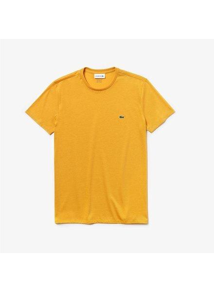 Lacoste Crew Neck Pima Cotton T-Shirt -Yellow