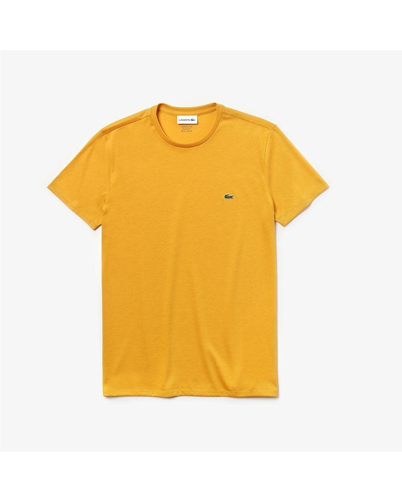 Lacoste Lacoste Yellow Crew Neck Pima Cotton T-Shirt