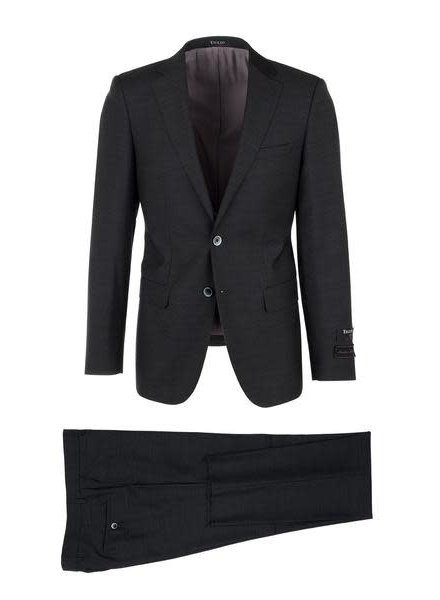 Tiglio Porto Charcoal Slim Fit Suit